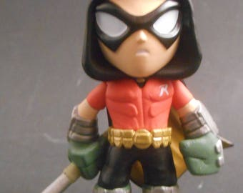CUSTOM Christmas Ornament Made From Funko Minions Mystery Minis Batman Arkham Asylum Series Robin