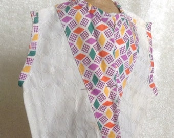 Very Vintage Doll Vest Great Fabric
