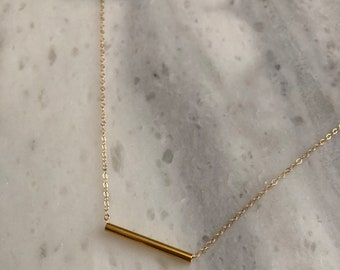 Gold Tube Necklace
