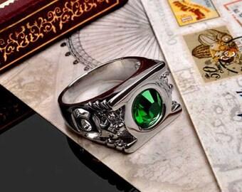Green Lantern Ring - Handmade Silver Ring