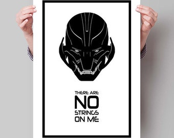 """AVENGERS: AGE of ULTRON Inspired Ultron Minimalist Movie Poster Print - 13""""x19"""" (33x48 cm)"""