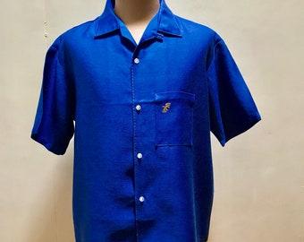 1960's Mens California Shirt - Blue