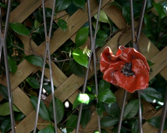 Beautiful Handmade Red Poppies for Garden Decorations!