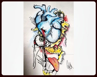 """This drawing is called """"Strong heart"""""""