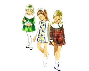 1960s Girls Princess Seam A-line Dress Butterick 4670 Vintage Sewing Pattern Size 4 Breast 23 UNCUT