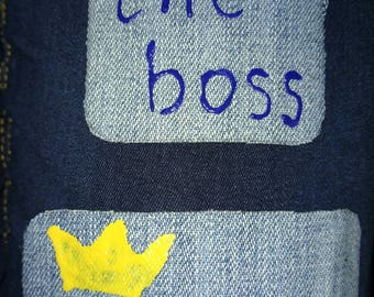 Girl Boss denim patch set