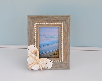 Beach Wedding, Nautical Decor, Coastal Decor, Beach Wedding Gift, Beach Picture Frame, Seashell Frames, Nautical Picture Frame, Beach Decor