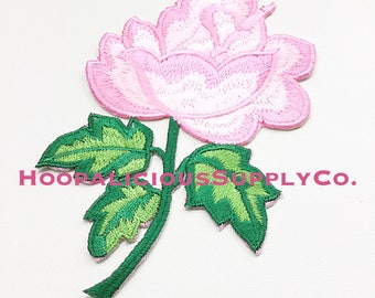 1pc Iron On Pink Floral Patch. Nice Detail & Beautiful Colors. Perfect for Denim or Tshirts. Fast Shipping From USA. Perfect for DIY.