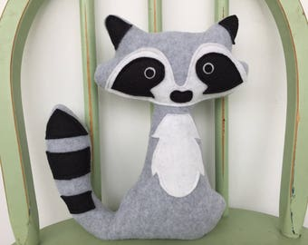 Woodland Raccoon Softie Toy, Perfect for Nursery!