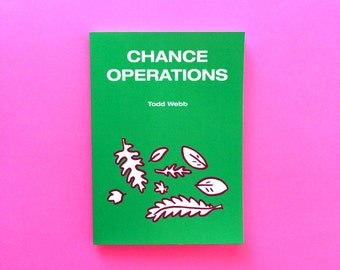 Chance Operations, Comic Book, 5 x 7 inches, 70 pages, full color, self published, art, comics, poetry, literature, music, John Cage