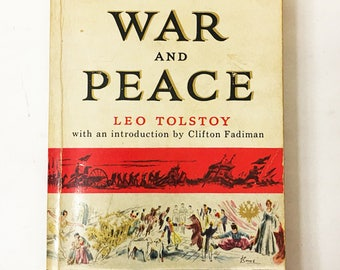 War and Peace Book.  Leo Tolstoy.  Soft cover book circa 1956.   Bantam Books.  FIRST EDITION. Classic literature.   The Year 1805