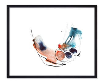 Birds in Love - Birds Abstract Painting Prints - Watercolor Painting - Abstract Watercolor Paintings -  Watercolor Abstract