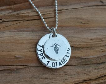 Medical Alert Necklace - For Him/Her/Kids - Sterling Silver - Personalized -Alert Epilepsy ,Alzheimer, Nut Allergy,Diabetes,Severe Allergies