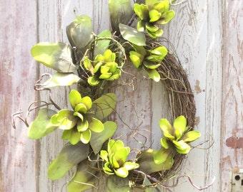 Summer Fall wreath, Summer wreath, Year round wreath, door wreath,front door wreath,green door wreath,Summer door wreath, fixer upper wreath