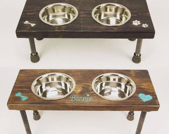 Pet Bowls | Pet Feeder Stand | Dog Bowl Stand | Cat Bowl Stand | Food and Water Bowls | Personalized Dog Bowls | Pet Food Holders