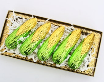 Set of 5 Gourmet Chocolate Corn on the Cob in Gold Box