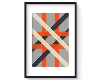 INTERSECT no.1 - Giclee Print - Modern Mid Century Modern Minimalist Abstract