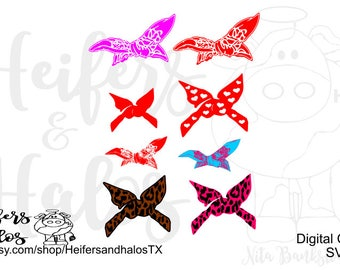 bandanas digital cut files, svg, pdf, png, eps, dxf, studio3, cheetah, heart, red for digital designs, headband