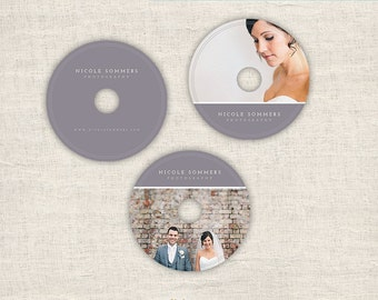 DVD Label Template for Photographers - Wedding Photography Templates, CD label Photoshop Templates, DVD Template Design - Instant Download