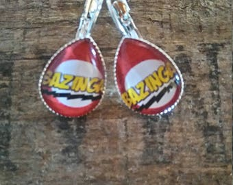 """Bazinga"" teardrop shape earrings"