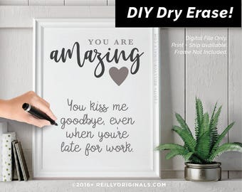 Printable birthday card etsy diy dry erase love you because valentine day printable amazing birthday gift card reason husband boyfriend him fiance do it yourself instant solutioingenieria Gallery