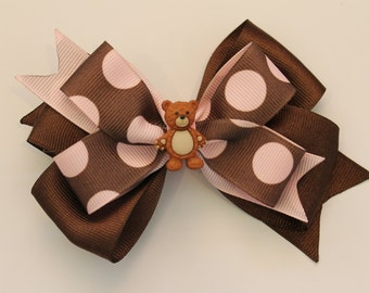 Teddy Bear Bow (Free Shipping in US)