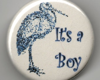New Baby It's a Boy, It's a Girl 1.25 inch Button