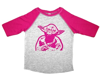 Girls Yoda Tee, Star Wars Shirt, Yoda Kids Tshirt, Star Wars Kids Tee, Yoda Toddler Shirt, Star Wars Baby, Yoda Baby Tee, Star Wars Tee