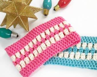 Dog Scarf Neck Warmer Cowl Cat Pet Neckwarmer Pink Aqua Dog Collar Pet Cat Dog Clothes Puppy Accessories Winter Cowl Knit Crochet