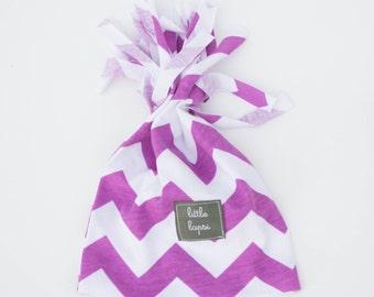 purple orchid HAT baby infant toddler hat. beanie. cotton jersey knit stretch. lightweight summer hat
