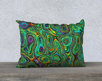 abstract pillow cover, abstract art pillow, colorful pillow case, throw pillow, accent pillow cover, custom pillow cover, bright pillow