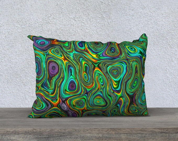 abstract colorful pillow cover