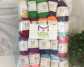 Mira Handcrafts Basic 40 Bon Bons Assorted Colors Acrylic Yarn E-Books New