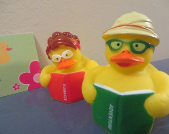 Reading rubber ducks.- Science Fiction, Romance, Adventure, and Mystery - For your reader in the family