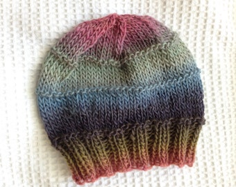 Handknit Woolblend Hat for Baby, One of a Kind Baby Hat