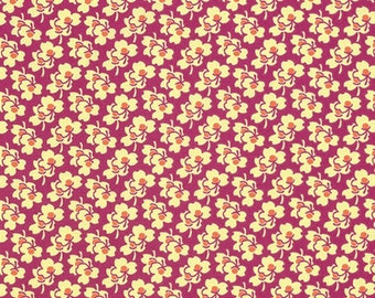 Pansies in Cerise from the Eternal Sunshine collection by Amy Butler for Free Spirit fabrics