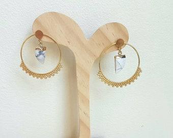 MelidelBoutique gemstone hoops