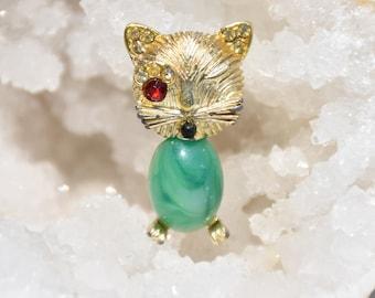 Winking Kitty Pin