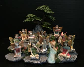 Fairy Garden | Sitting Flower Fairies | Pretty Resin Miniature Figurine Statues | Choose 1 from 8 Different Styles | Great Value!