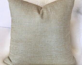 Blue & Gold Throw Pillow w/ Brass Zipper