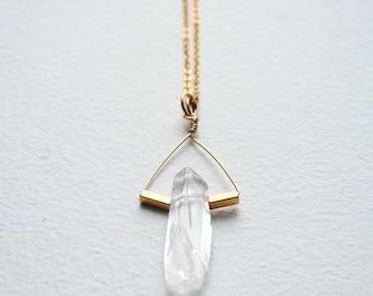 Crystal Necklace, Boho Necklace, Gemstone Necklace, Raw Crystal Necklace, Crystal Pendant