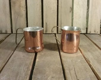Vintage Copper Cups