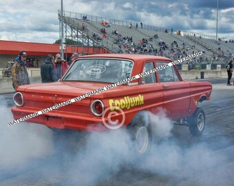 """8 x 10"""" Color Photo of the Ford Falcon Gasser """"Cooljunk"""" Racing"""