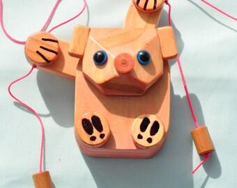Pig/handmade wooden gift/christmas/new years