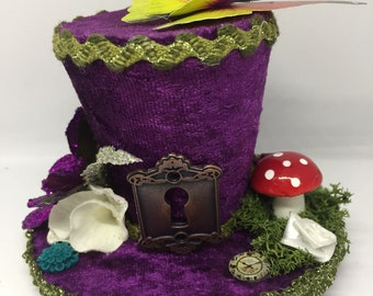 Alice In Wonderland Inspired Mini Top Hat