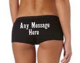 Any Message Here Panties, Custom Wedding Panties, Any Message on Rear, Wedding Knickers, Wedding Underwear, Wedding Gift, Bridal Lingerie