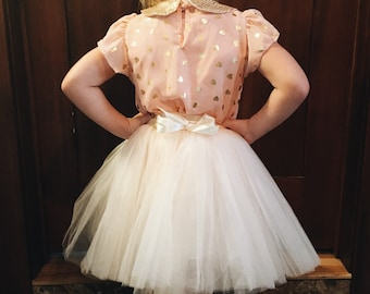 Champagne Very Full Tulle Flower Girl Toddler New Born Tutu Mommy & Me Skirt