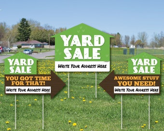 arrow yard signs