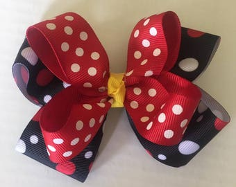 Minnie Mouse Inspired Hair bow