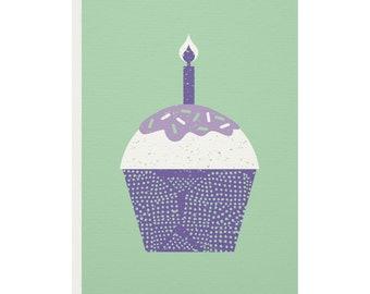 Cupcake Greetings Card